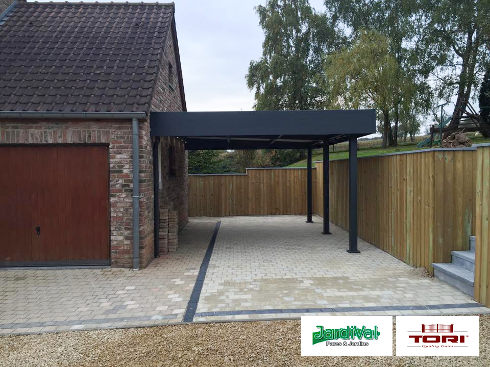 carport 2 voitures avec abri de jardin. Black Bedroom Furniture Sets. Home Design Ideas