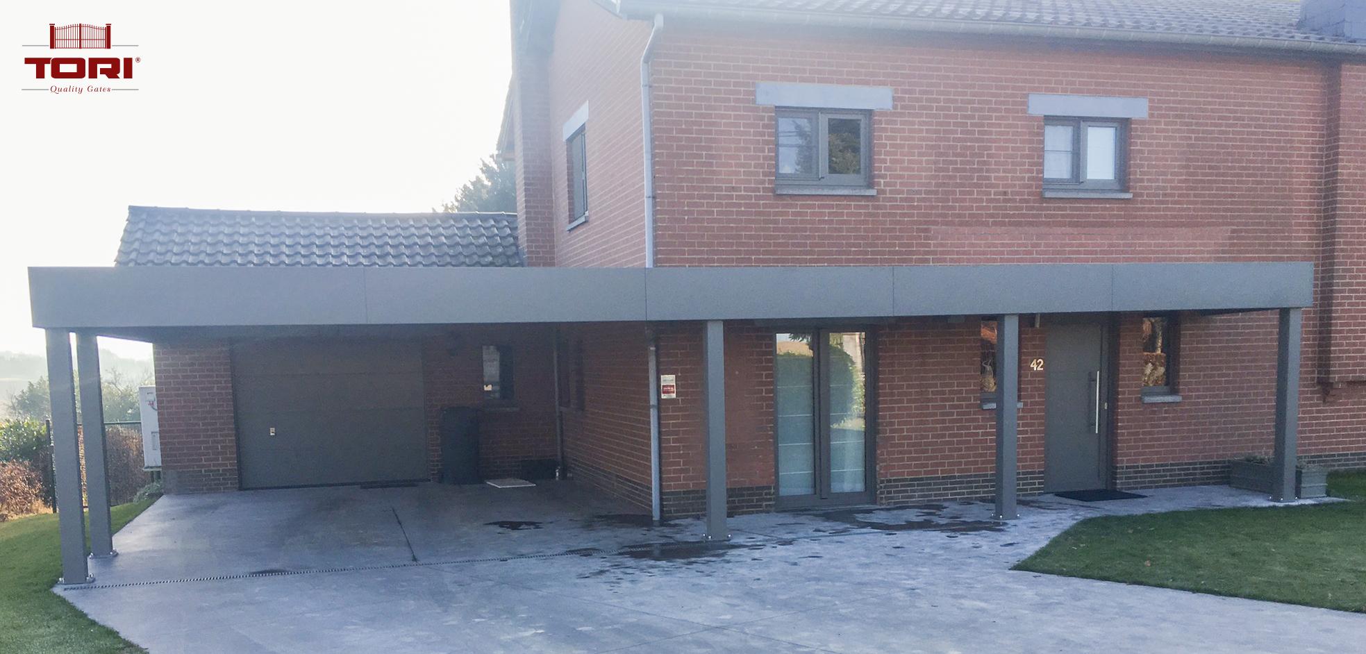 carport aluminium horizon tori portails. Black Bedroom Furniture Sets. Home Design Ideas