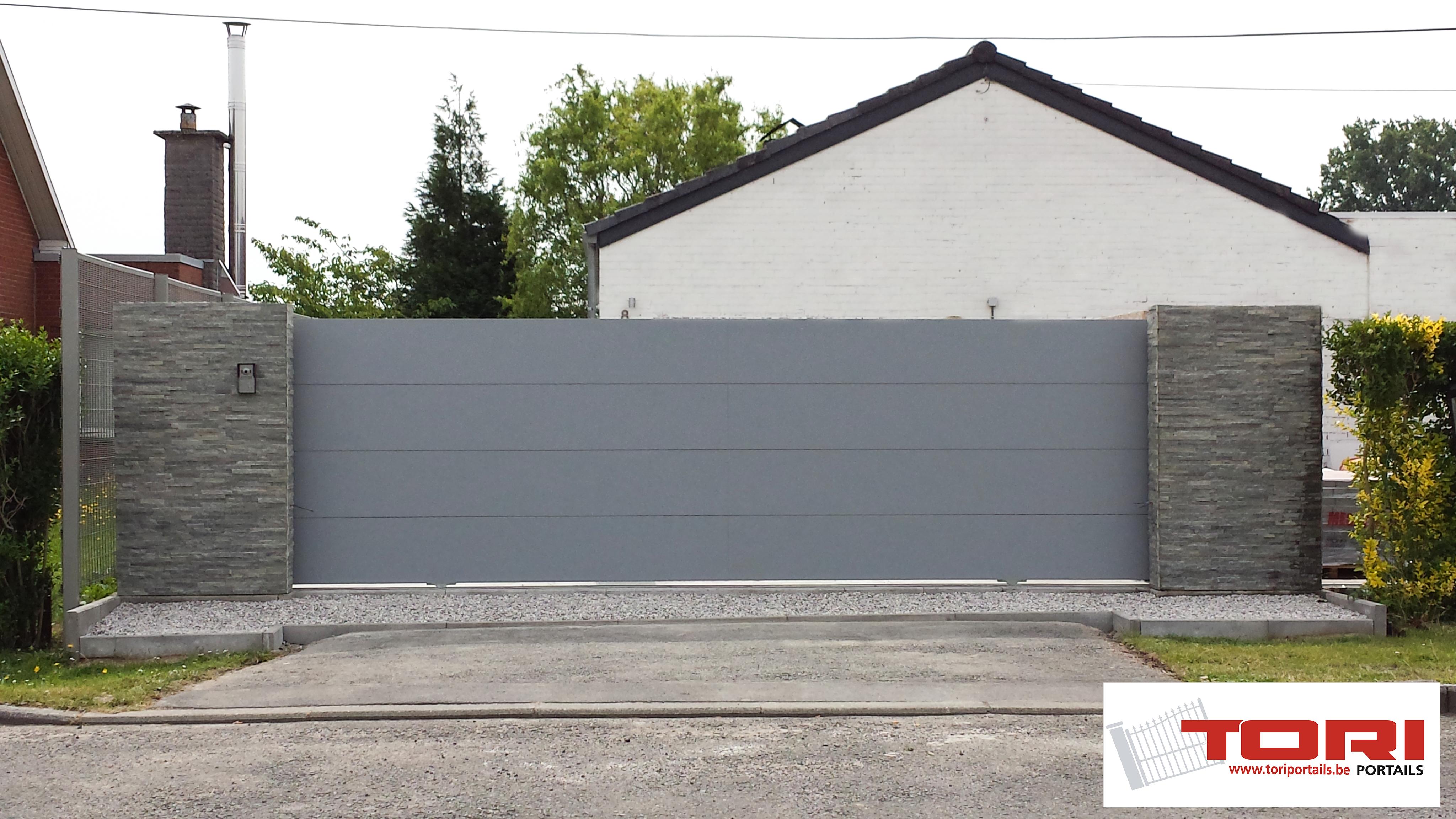 Portail Aluminium Coulissant Sectionnel Tori Portails