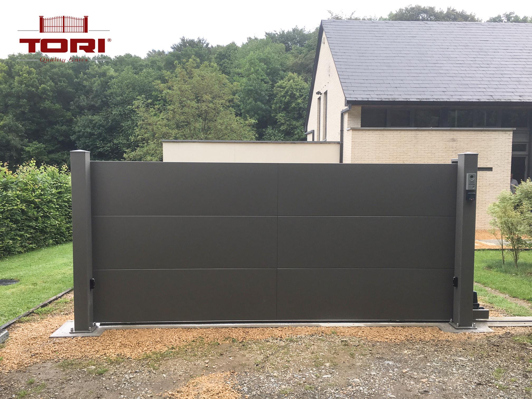 Portail aluminium horizon tori portails for Tarif portail alu