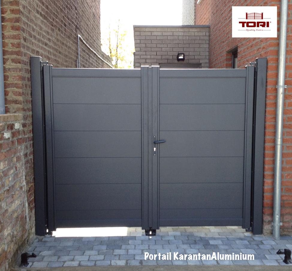 portail en alu stunning portails battants en aluminium with portail en alu finest portail. Black Bedroom Furniture Sets. Home Design Ideas