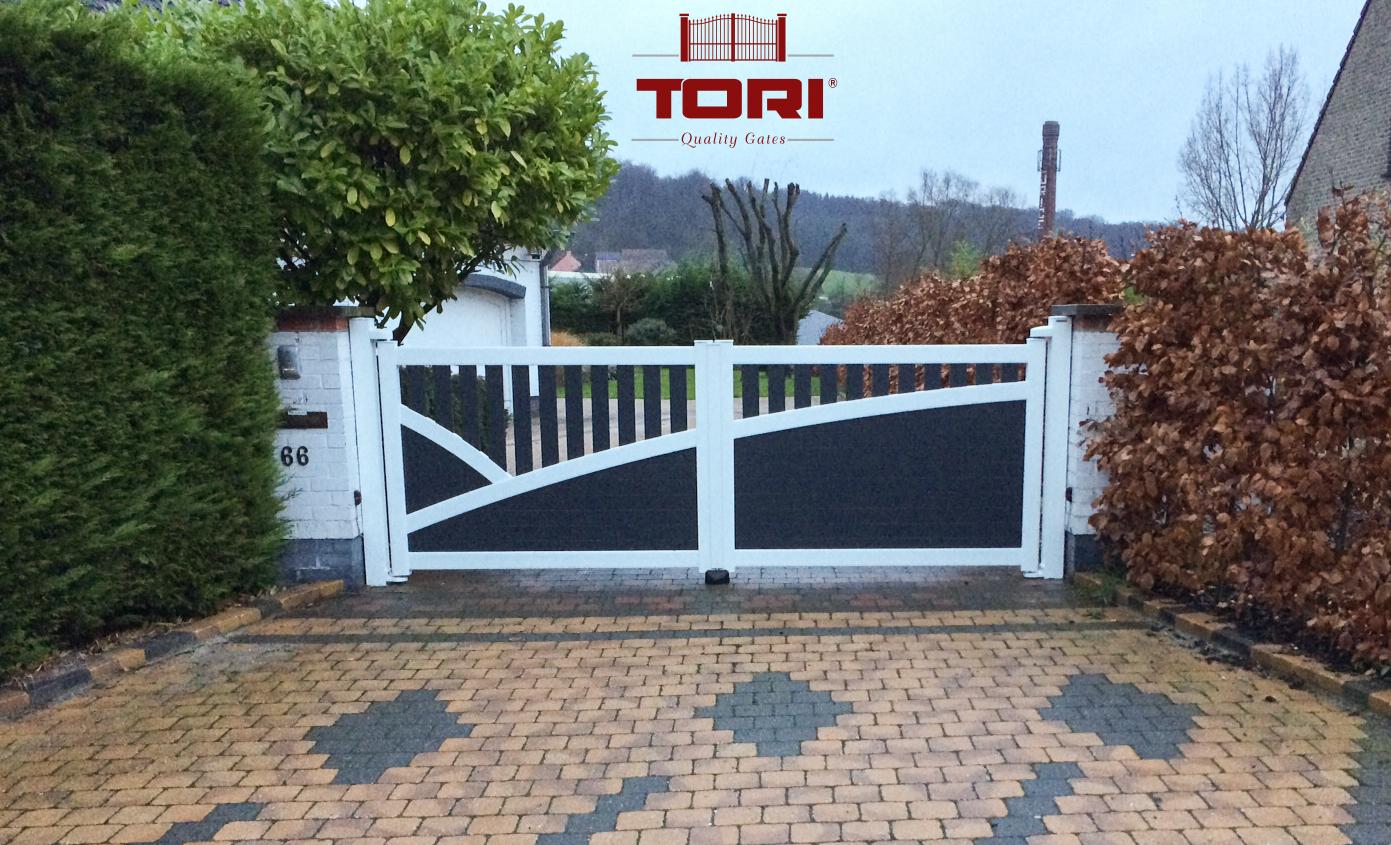 Portail aluminium nevez tori portails for Poteaux de rugby pour jardin