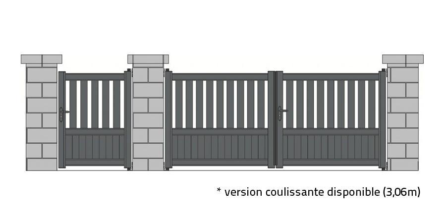 portail standard argoat vert 6005 blanc 9210 tori portails
