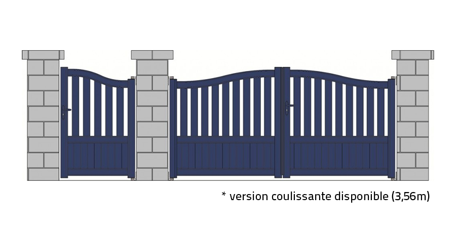 portail standard gwen rouge 3004 vert 6005 gris 7024 blanc 9210 tori portails