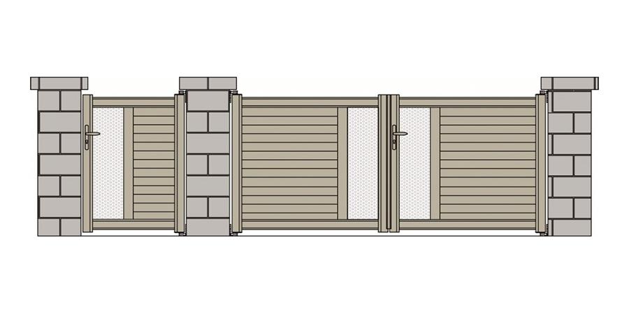 portail standard mellan gris 7024 tori portails. Black Bedroom Furniture Sets. Home Design Ideas