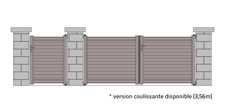 portail standard stella gris 7024 tori portails. Black Bedroom Furniture Sets. Home Design Ideas
