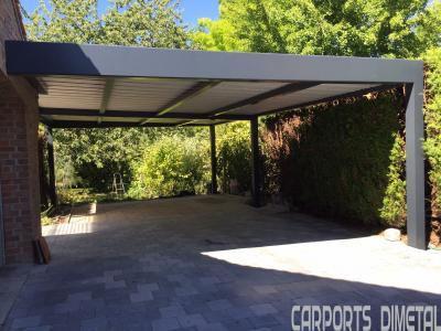 Carports aluminium tori portails for Taille portillon